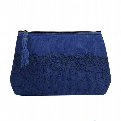 Anka Cotton Wash Bag - Blue